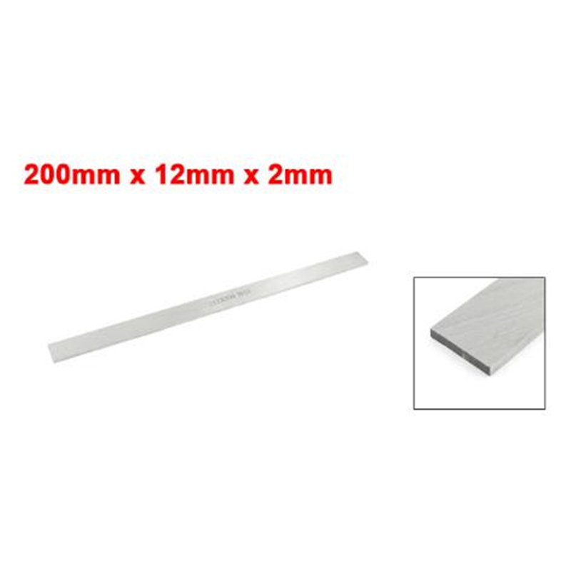 200 X 12 X 2mm HSS Rectangle Lathe Turning Tool Bit Boring Bar Fly Cutter Gray Used For Turning, Boring Out, Grooving