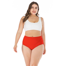 цена на Plus Size 4XL Print Tankini Set Large Big Plus size Swimwear Women Swimsuit Tankini Set Two Piece Split Bodysuit Straps 2020