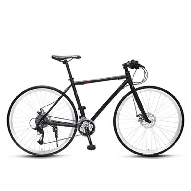 Дорожный велосипед, гоночный Сверхлегкий дорожный гонок 700c, плоский переключатель, для взрослых, сломанный ветер, прямой дисковый тормоз