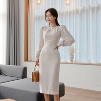 New winter Women Sexy Elegant Office Lady wear to work Dress Business Fitted Bodycon Sheath Party dress