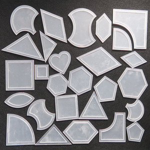 27 Set Mixed Quilt Templates Reusable Transparent Acrylic Pattern Stencil Patchwork Styling Quilting Sewing Supplies