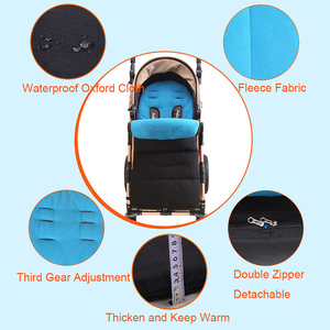 Image 4 - Colchón impermeable para bebé en cochecito, reposapiés, sacos para dormir de invierno, cubierta para pies de bebé