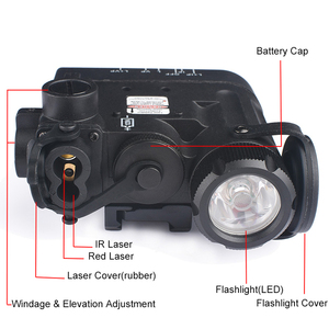 Image 3 - WADSN Softair Flashlight IR Lazer Red Dot Laser DBAL D2 Multifunction White Light DBAL MKII Tactical Battery Case Weapon Lights