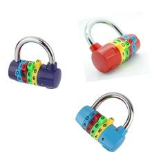 4 Digit Number Code Password Combination Padlock Security Safe Gym Wardrobe Lock for tools
