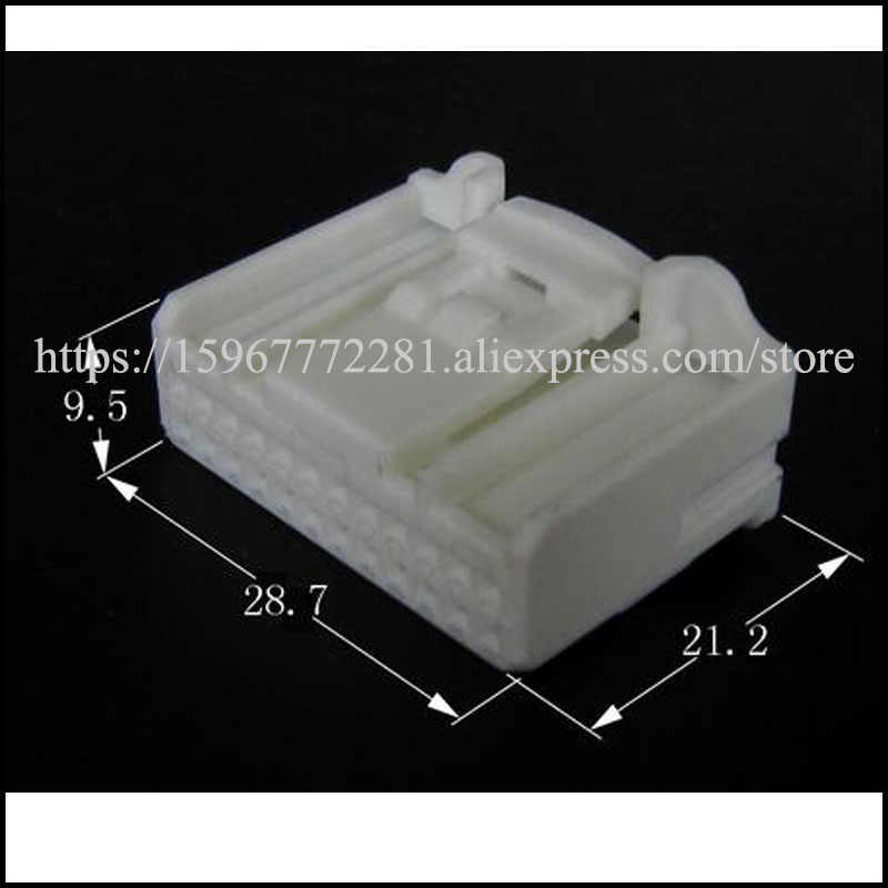 free shipping 1set  male female Connector cable Terminal connector socket 24 pin Connector automotive plug seal 1318917-1