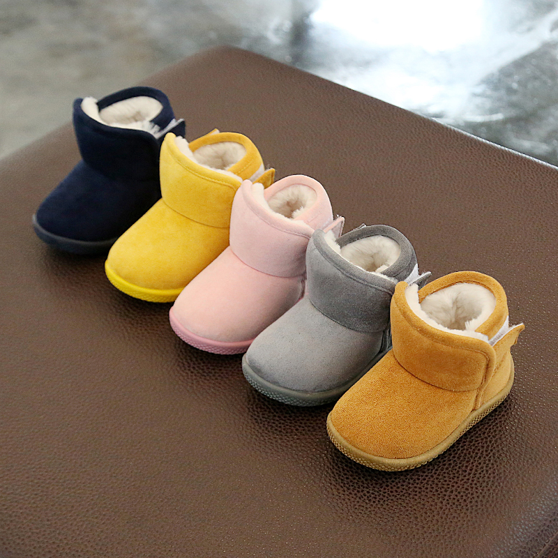 2019 Winter Infant Toddler Snow Boots Baby Girls Boys Outdoor Boots Warm Thicken Plush Soft Bottom Kids Child Cotton Shoes