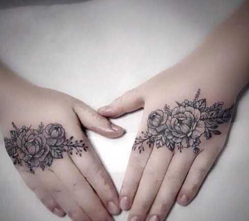 Tatuajes Temporales tatuaje falso pegatina flor Rosa arte calcomanía tatuaje mano pie tatuaje para brazo tatuajes impermeables para chicas mujeres