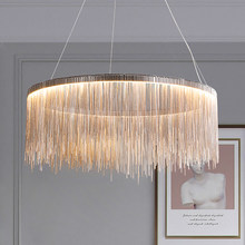 Nordic Chandelier Indoor Lighting Modern Tassel Round Chandeliers for Home Living room bedroom Lustre Minimalism Hanging Lamp