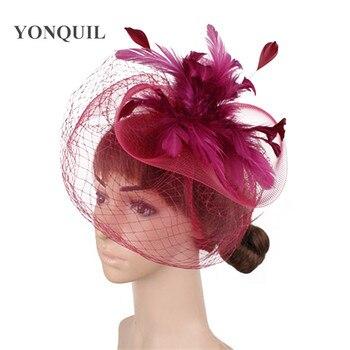 Chic Handmade Wedding Tulle Fascinator Hat Mesh Accessories Bride Headwear Women Nylon Headdress Ladies Party Dinner - discount item  40% OFF Wedding Accessories