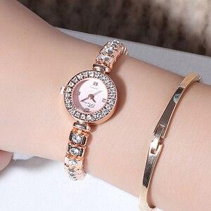 Image 4 - Prema Dames Armband Horloge Vrouwen Luxe Mode Strass Quartz Horloges Kleine Wijzerplaat Roestvrij Stalen Horloge Relogio 2020