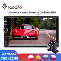 """Podofo Android Auto Radio Autoradio 7 """"2 Din 2GB + ROM 32GB Multimedia Player Auto Stereo Spiegel link FM MP5 2din Kassette Recorder-in Autoradios aus Kraftfahrzeuge und Motorräder bei"""