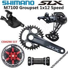 SHIMANO DEORE SLX M7100 Groupset 32T 34T 36T 170 175mm aynakol dağ bisikleti Groupset 1x12 Speed CSMZ90 m7100 arka attırıcı