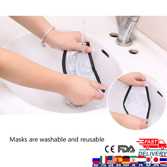 PM2.5 Face Mask Kids  Mask Cute Breathable Valve Mouth Mask Filter Pad Pollution Activated Carbon Filter Children Cotton Masks 4