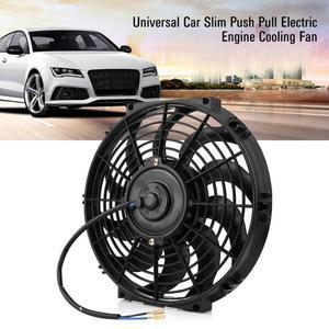 Image 5 - 12 Inch 12V Universele Auto Slanke Push Pull Elektrische Motor Koelventilator Met Montage Kit Radiator Fan Auto Motor accessoires