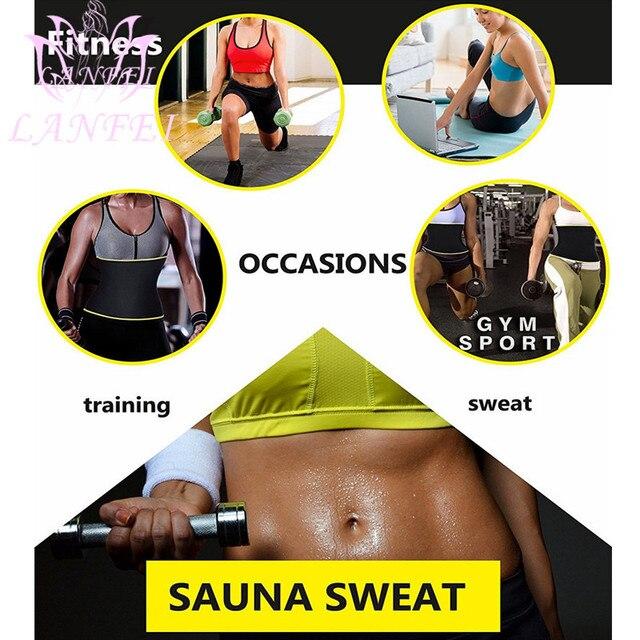 LANFEI Women Waist Trainer Trimmer Body Shaper Belt Sauna Slimming Modeling Strap Hot Neoprene Sweat Corset Weight Loss Fajas 4