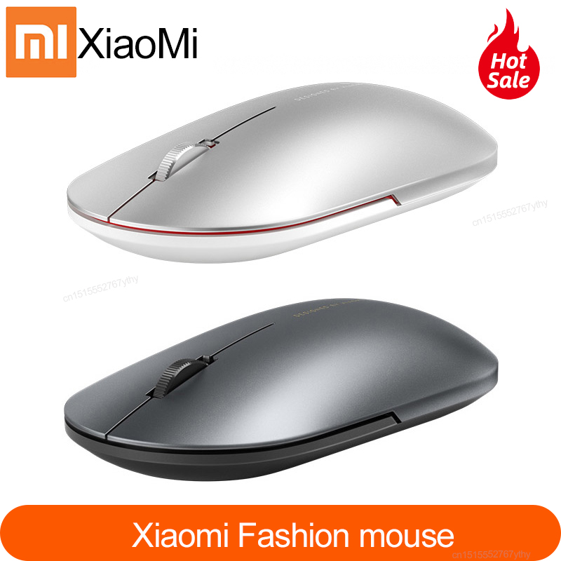 Newest Xiaomi Bluetooth mouse Mi fashion Wireless Mouse Game Mouses 1000dpi 2.4GHz WiFi link Optical Mouse Metal Portable MouseMice   - AliExpress