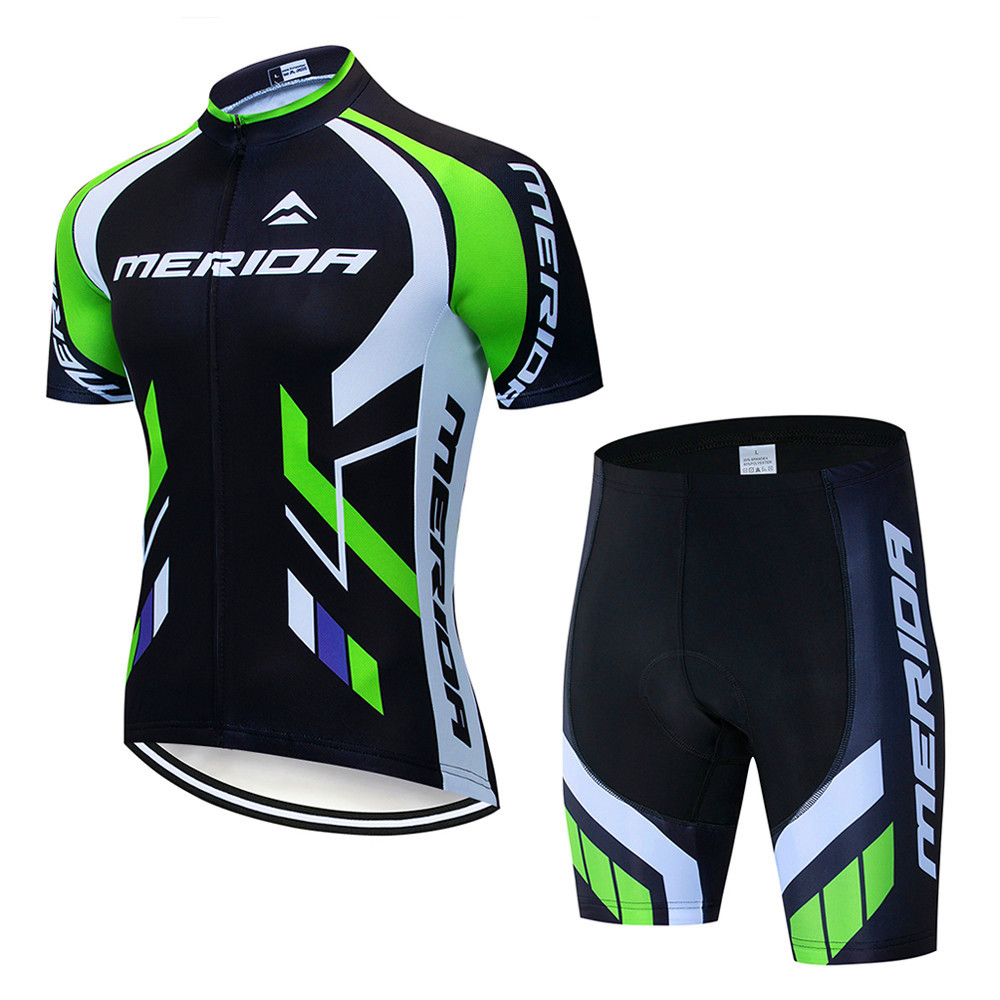 Micye Mens Pro Strap Cycling Jerseys Set Summer Outdoor Thin and Light Breathable Cycling Wear Polyester Fabric Mountain Comfortable Close-fitting Bike Clothes