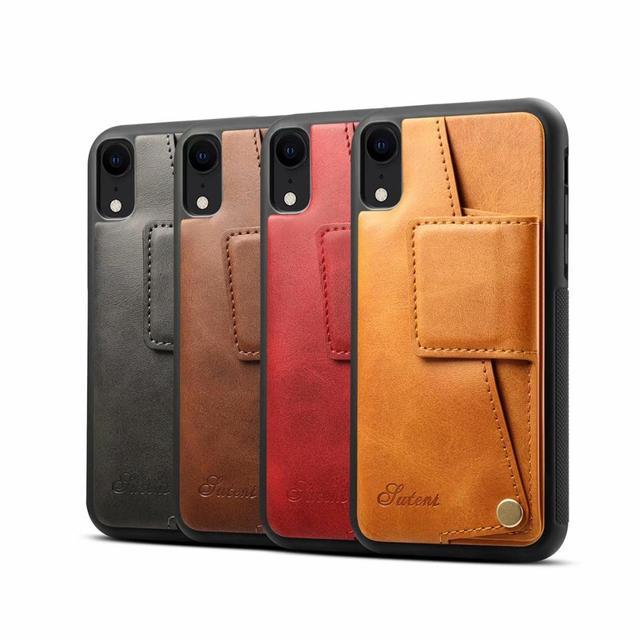 YXAYN قطرة غطاء حماية الحالات الجلدية الهاتف الخلفي الفاخرة محفظة غطاء ل iPhone12 Mini 7 8 Plus X XR XS ماكس 11ProMAX
