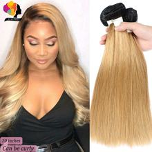 Remyblue Ombre Blonde T1B/27 Straight Brazilian Hair Weave B