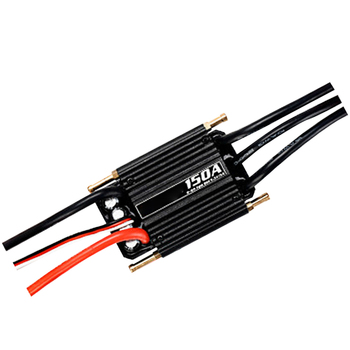 150A Rc Boat Universal Waterproof Protection Function Black Aluminum Speed Controller Brushless ESC Easy Apply Replacement Parts