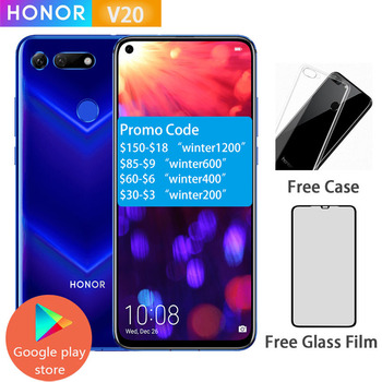 Honor V20 View 20 Smartphone Android 9.0 kirin 980 Octa Core FingerPrint ID 6.4 inch 3*Cameras 4000 mAh Cell Phone