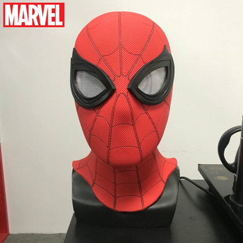 Marvel Cosplay Spiderman Hero Expedition Hood Mask Pvc Black Stealth Suit Surrounding Halloween Hat Boys Day Gift spider man homecoming cosplay costume 3d printed spiderman homecoming spandex suit newest spiderman halloween bodysuit