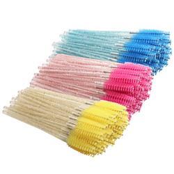 2000 pcs Cosmetic Eyelash Brush Crystal Mascara Wands Applicator Diamond Eyelashes brushes Disposable Make Up brushes Tools