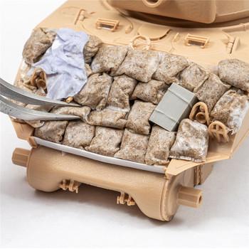 40 sztuk wysokiej symulacji worków z piaskiem Model kombinacji worków z piaskiem dla 1 35 skala modelu scenariusz akcesoria tanie i dobre opinie CN (pochodzenie) Z tworzywa sztucznego 1 35 EMCT2827 Unisex Sandbags Set Approx 1 2x1 7cm