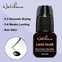 NATUHAHA 5ml 2-3s Fast Dry Non Odor Irritant Eyelash Extension Glue Strong False Eye Lash Adhesive Retention 3-4 weeks