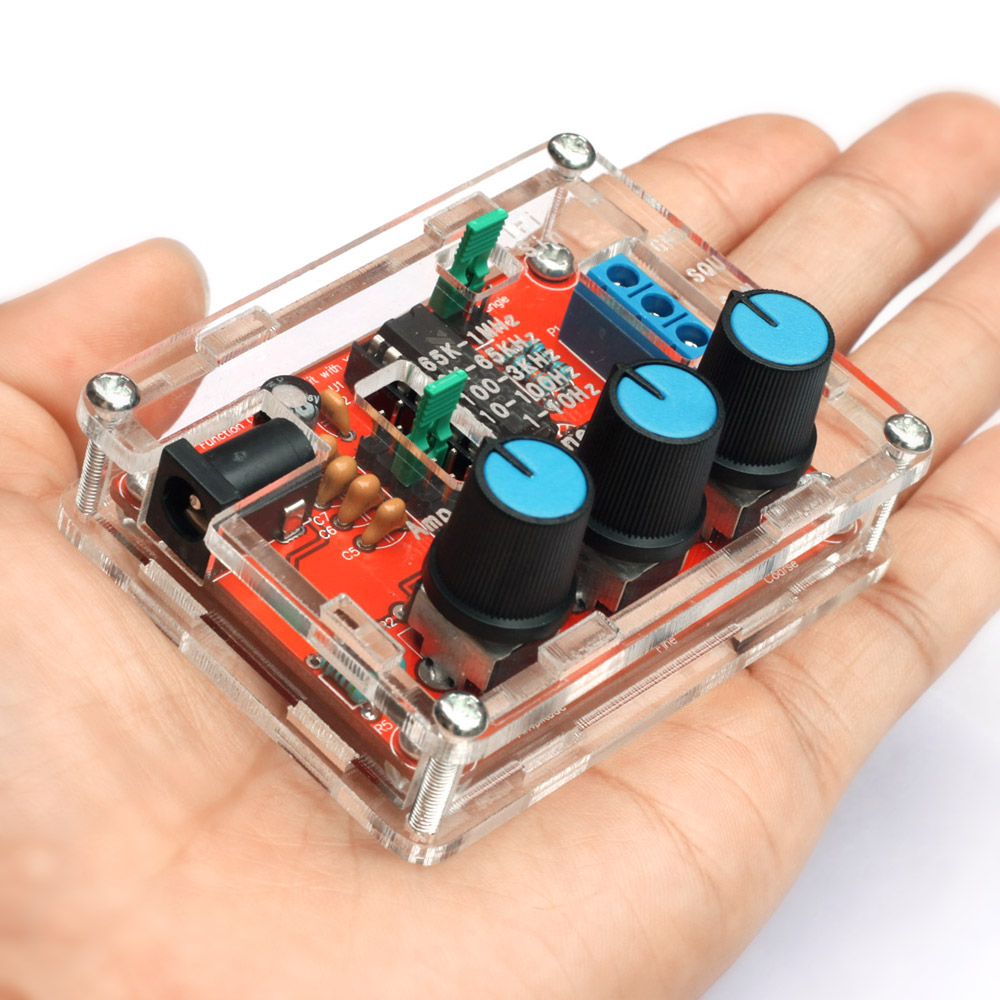 Генератор сигналов высокой частоты XR2206, Набор DIY, синусоидальный/квадратный выход, 1 Гц-1 МГц, регулируемая амплитуда частоты