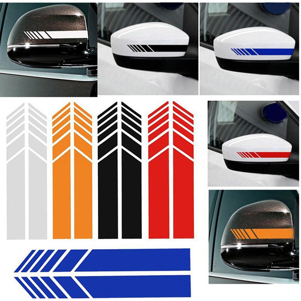 Mirror Reflective Simple Design Geometric Shape Long Rear View Mirror Sticker Patch Decals Vinyl Car Stickers Styling