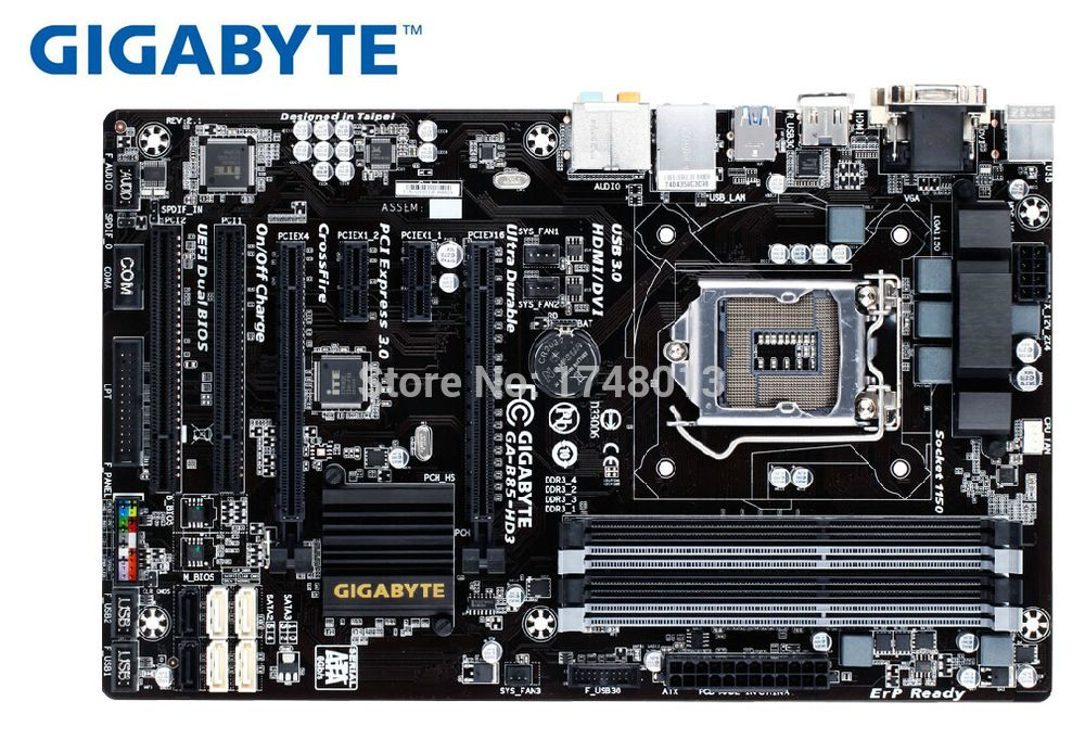 Original Motherboard  Gigabyte GA-B85-HD3 For Intel LGA 1150 DDR3 B85-HD3 32GB H81 Desktop Motherboard