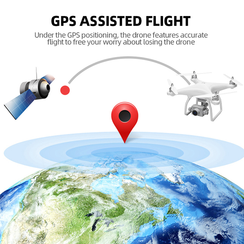 WL X1S GPS Fixed Height Drone 4K Two-axis Gimbal Stabilizer 5G WiFi HD Camera Drone Professional FPV RC Quadcopter Drone VS F11 (4K 1Battery)