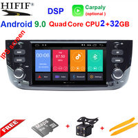 IPS 1 din Auto Radio Android 9.0 Car Multimedia Stereo For Fiat Grande Punto Abarth Punto EVO Linea 2012 2013 2014 2015 WIFI