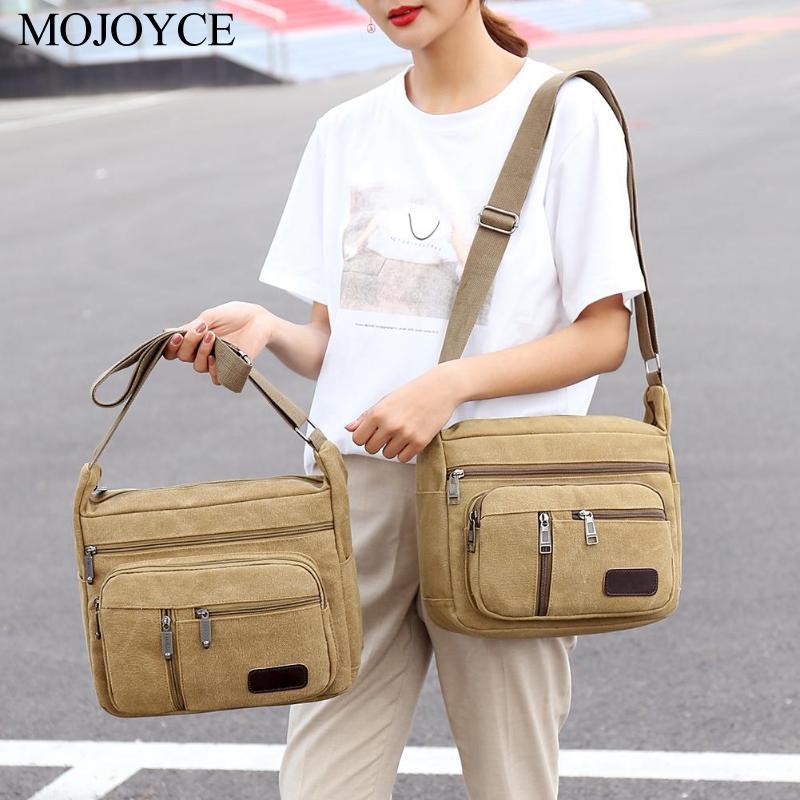 New Fashion Vintage Men Canvas Handbags High Quality  Single Strap Male Shoulder Bags School Bags For Teenager Travel Handbags