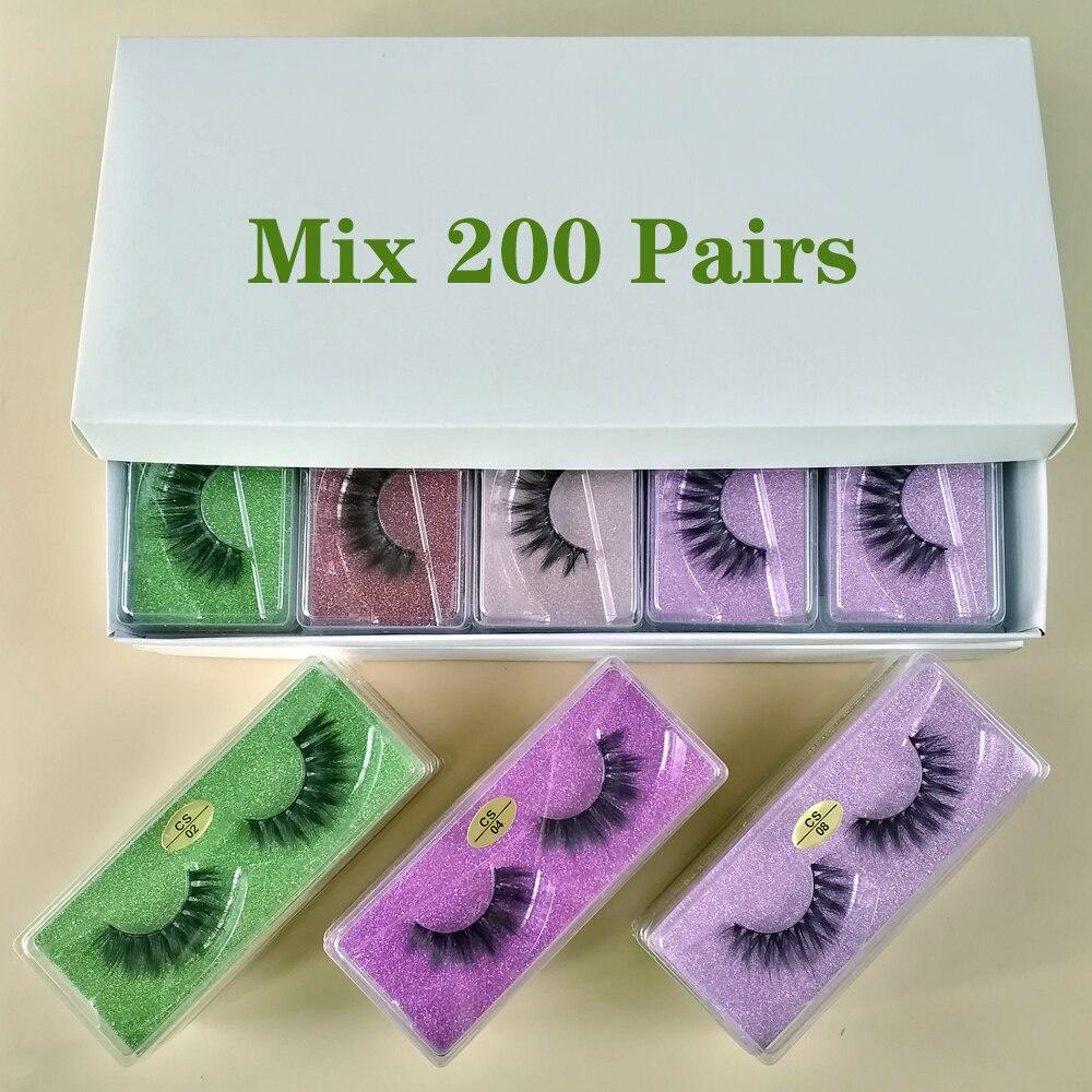 atacado cilios posticos maquiagem cilios posticos atacado 30 50 100 200 pares 3d vison cilios em