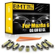 BMTxms Canbus для Mazda 6 GG GH GJ GL седан люк 2003-2020 Автомобильный светодиодный интерьер купольная карта светильник для багажника комплект для обновлени...