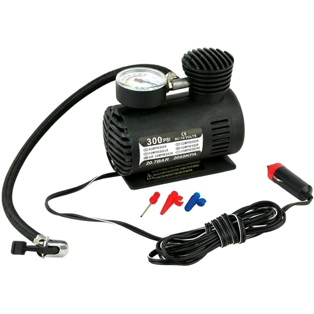 300PSI 12V Mini Air Compressor Auto Car Electric Tire Air Inflator Pump NR-shipping