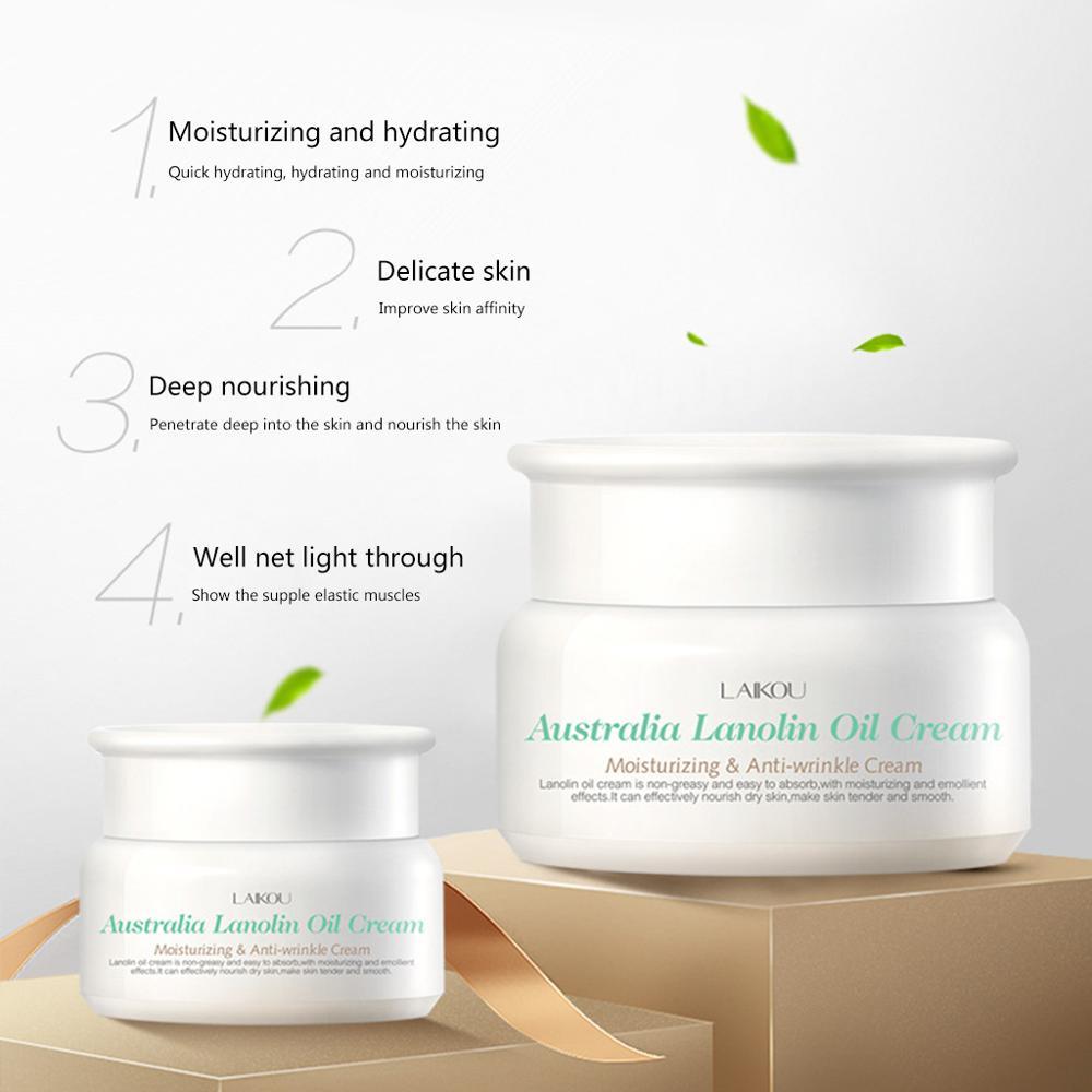 35g Lanolin Oil Paste Facial Cream Oil Control Brighten Anti Wrinkle Tender Face Moisturizing Lighten Whiten Soften Skin Care