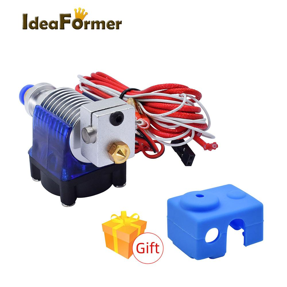 3D Printer Long Distance V6 J-head Hotend Extruder With Fan For 1.75mm 12V/24V 0.2/0.3/0.4/0.5mm Nozzle For E3D Makerbot Reprap