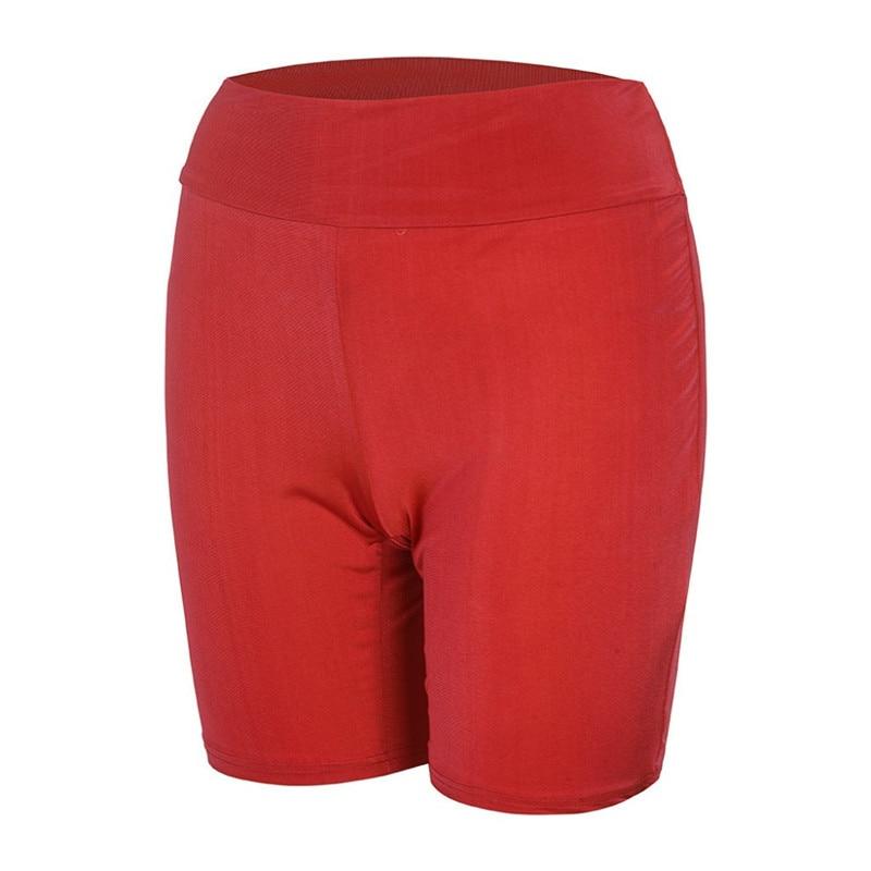 2020 New Women`s Cycling Shorts Stretch Plain Biker shorts Casual Sports Fitness Ladies Elastic Waist Leggings Slim Shorts (5)