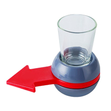 Shot Spinner Party Table Game Rotatable Arrow Beer Wine Glass Cup Kit Spin The Shot Drinking Game Entertainment стоимость