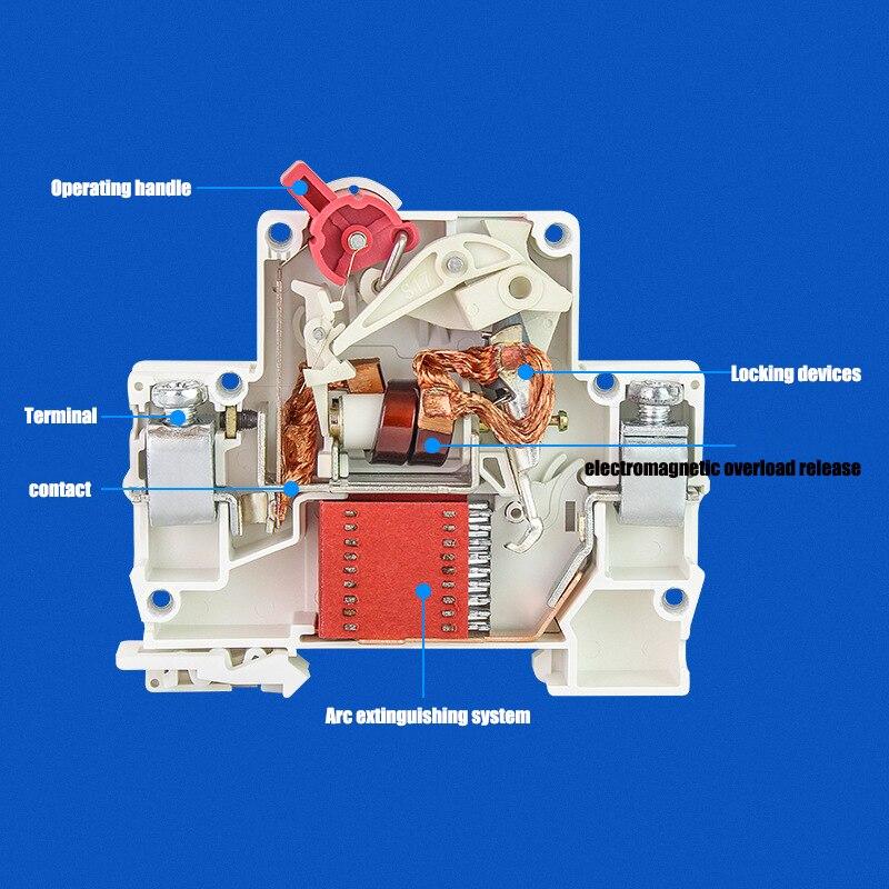 Heb7d65bbe8a94fb4b13bfaa3a2f104bdX - TPN 1P mini circuit breaker MCB 10A,16A,20A,25A,32A mini DZ47 air switch C45 low voltage switch