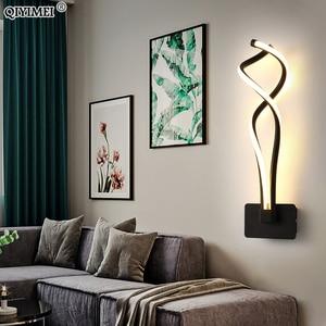 Image 5 - Modern Minimalist Wall Lamps Living Room Bedroom Bedside 16W AC96V 260V LED Sconce black white Lamp Aisle Lighting decoration