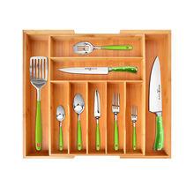 Ящик для хранения кухонных столовых приборов с 9 ячейками расширяющийся