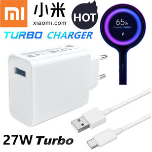 Xiaomi Fast Cahrger 27W Original QC 4.0 turbo quick charge power adapter usb 3.1 for mi 9 9se 9t pro ma x 3 a3 redmi not 7 8 pro(China)