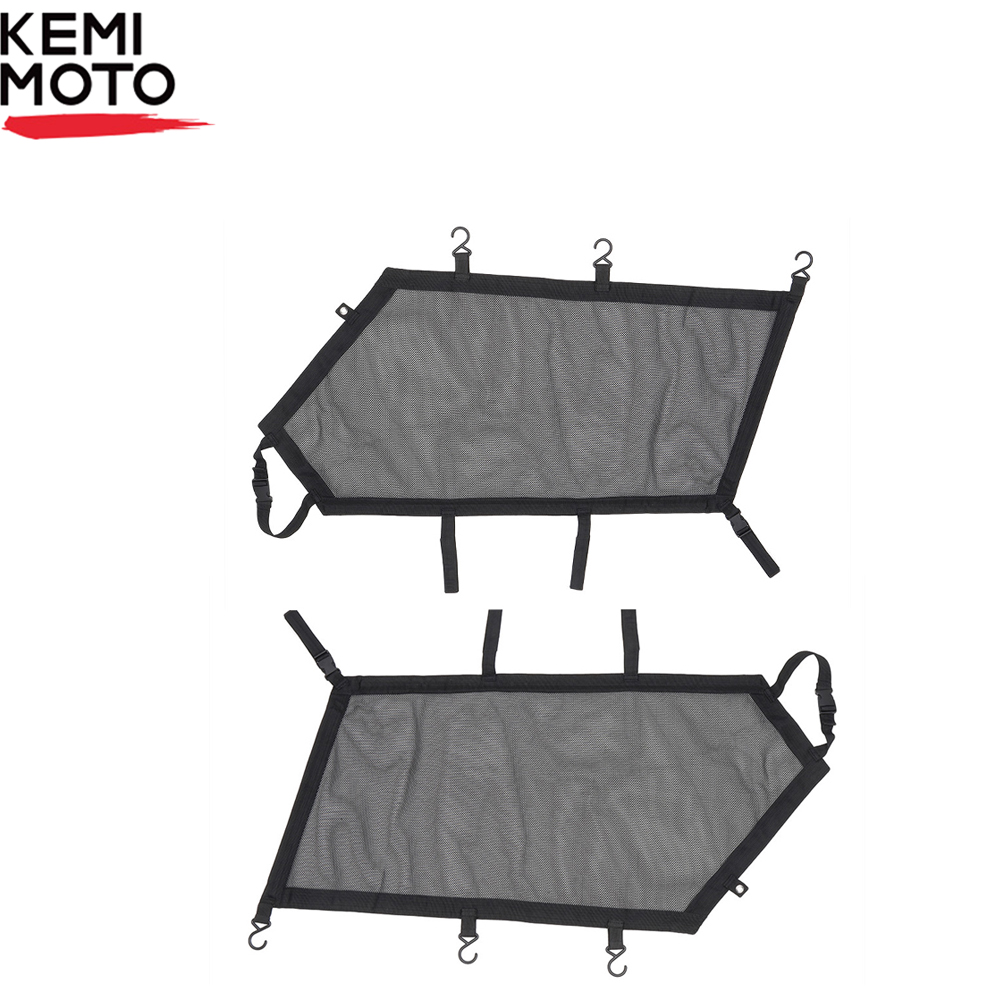 KEMIMOTO Left & Right Window Nets UTV For Can-Am Maverick X3 2017-2019 2018 Safety Protective Net