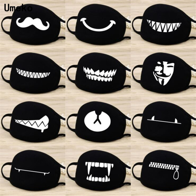 New Personality Expression Lovely Cartoon Mouth Mask Riding Dust-proof Windproof Anti-fog Sun Protection Cotton Breathable Masks
