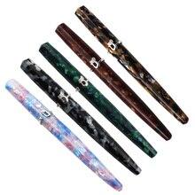 كيوتو القط حلقة قلم حبر معدن الفولاذ المقاوم للصدأ جديد براون لون قلم حبر غرامة بنك الاستثمار القومي EF/F الكتابة هدية اللوازم المكتبية المدرسية