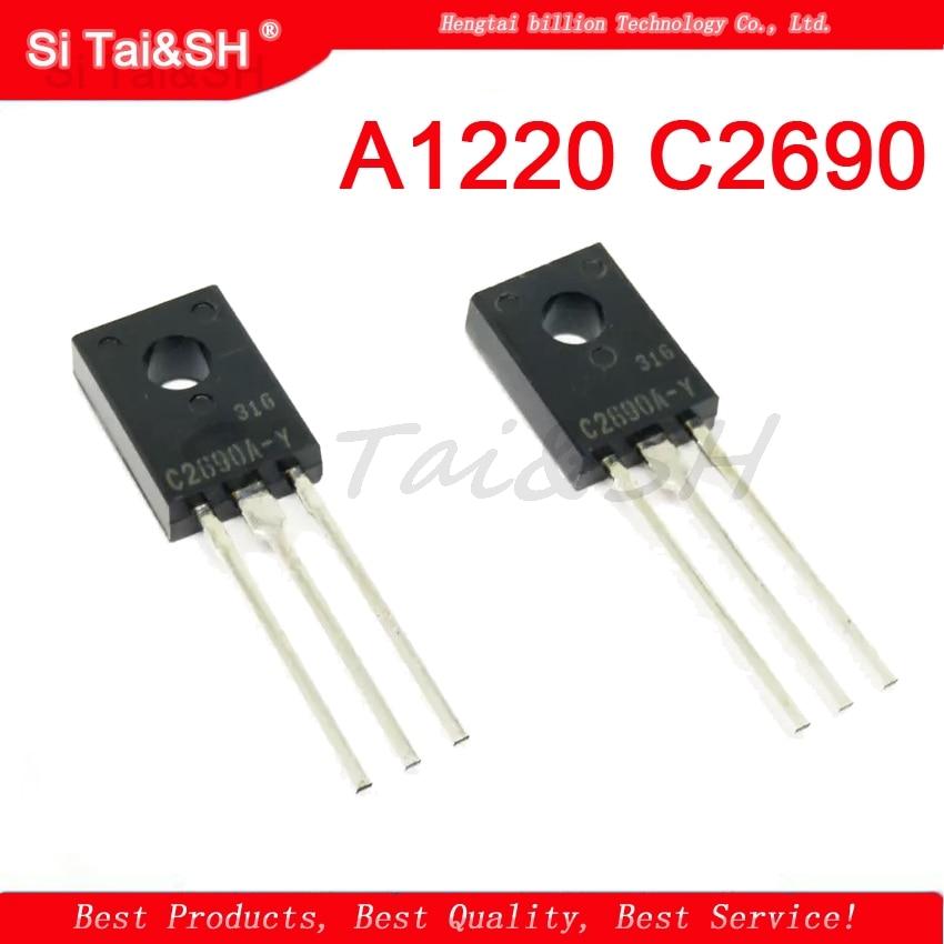 10PCS A1220 C2690 2SA1220 2SC2690 5pcs A1220 + 5pcs C2690 TO126